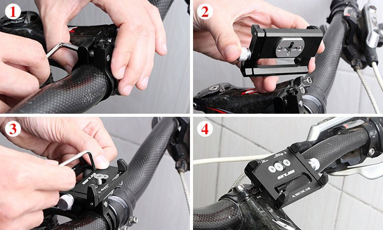 Držák na řídítka na kolo na mobil HS-1107 Resolut