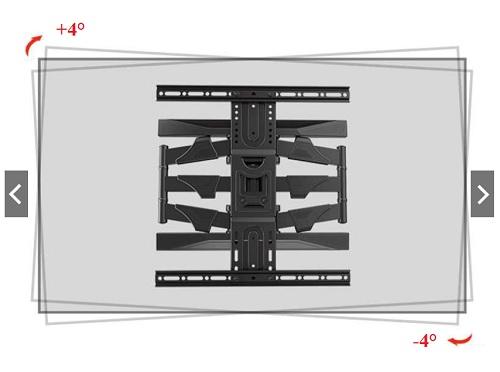 vyrovnání obrazovky po montáži u držáku na TV Holders P-6