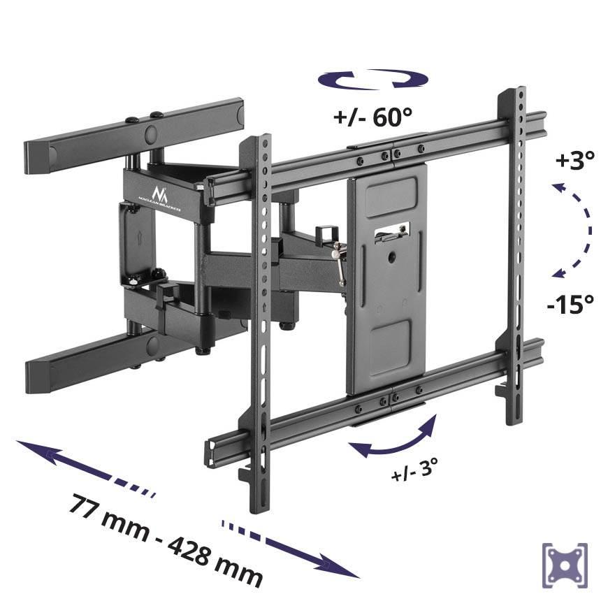 Kloubový držák TV  - nosnost 60 kg MC-881