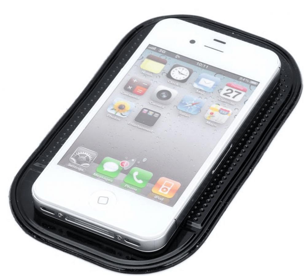 Lepivá protišmyková placka - držiak mobilu čierna HS-1202