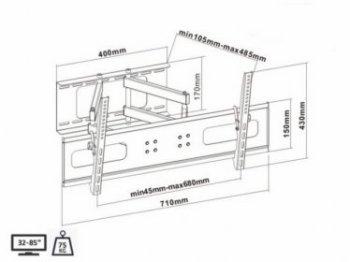 Kĺbový TV držiak MC-564