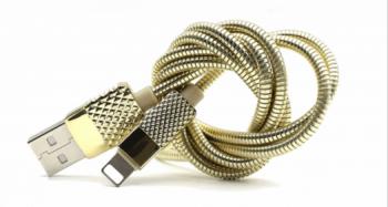USB kabel lighting Iphone nesukovací kovový HS-3005