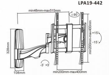 Držiak TV Brateck LPA19-442