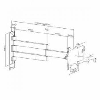 Kvalitný kĺbový držiak na LCD HS-101