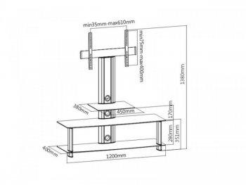 Televízny stolík s TV držiakom MC-626