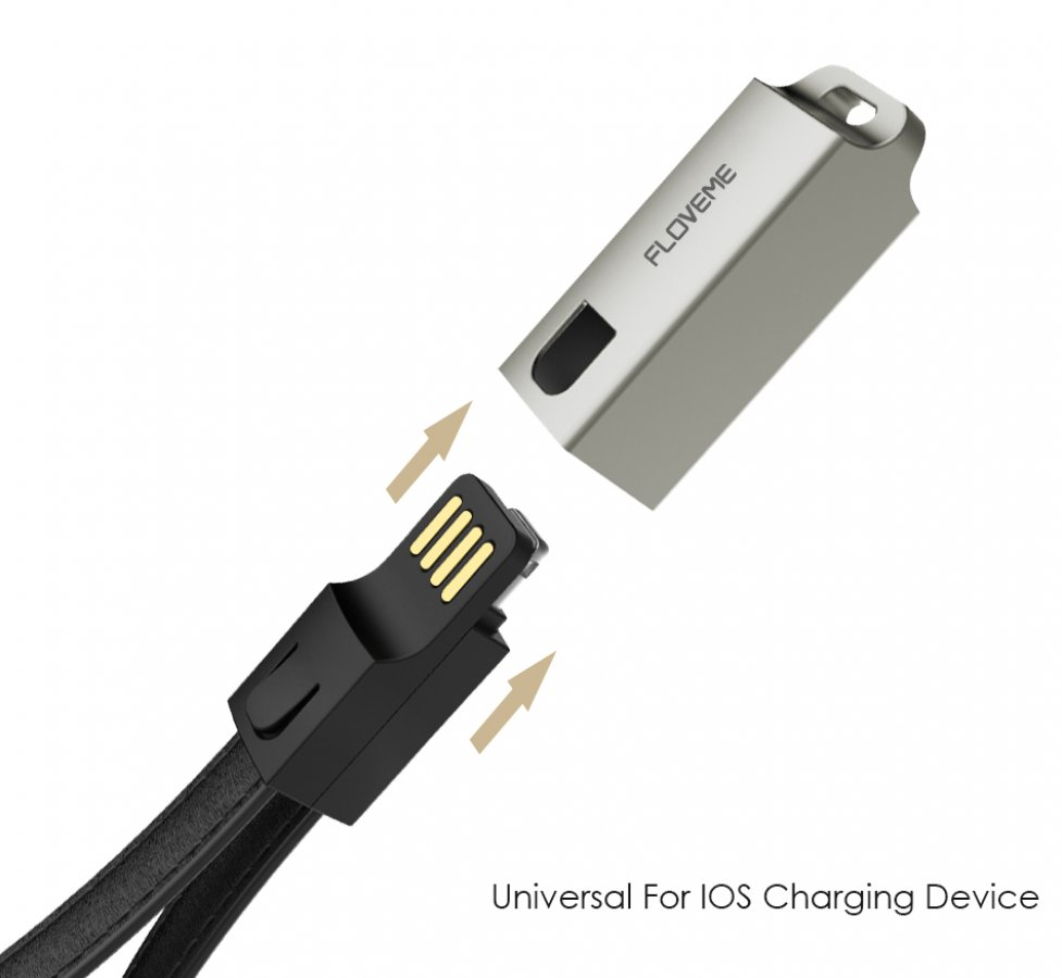 Kožená USB kľúčenka s lightning konektorom HS-3010