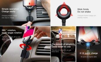 Nabíjací držiak na mobilný telefón Apple do auta HS-3102