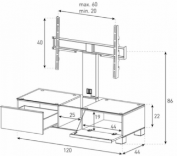 TV stolík MD-8120