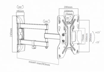 Nástenný TV držiak HS-01904-M