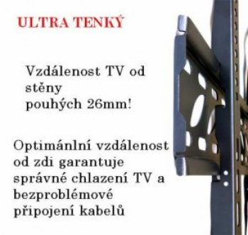 Fixný Tv držiak Fiber Novelty FN-44-F