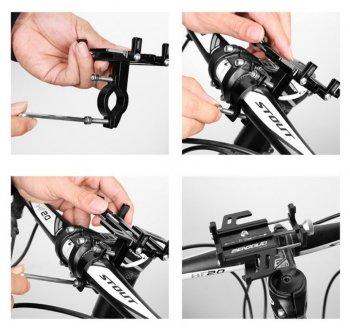 Špičkový držiak na mobilný telefón na bicykel aj na motorku HS-1111