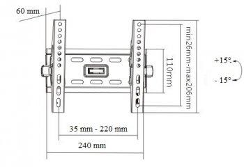 Televízny držiak HS-450E