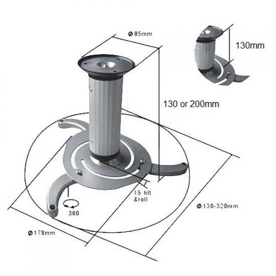 Stropní držák projektoru Fiber Mounts MC515S
