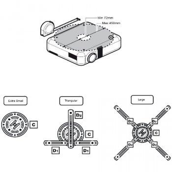 Držiak na projektor MC-780