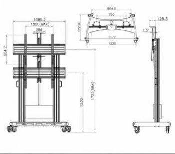 Motorizovaný TV stojan TW-100