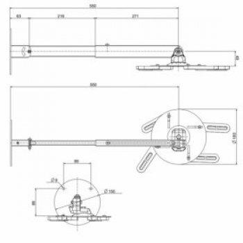OMB Gyro Projector nástěnný držák na projektory