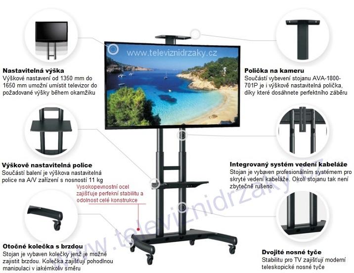 Mobilní prezentační stojan na TV Northbayou AVA-1800-701P